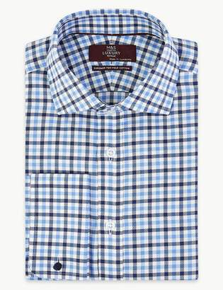 Marks and Spencer Luxury Royal Oxford Check Shirt
