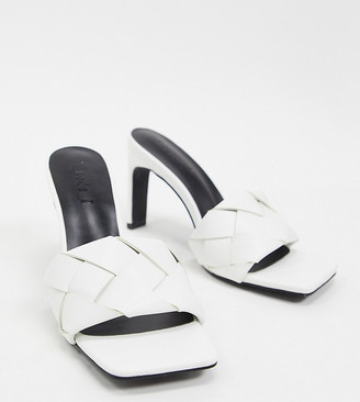 Z Code Z Z_Code_Z Exclusive Rae vegan plaited heeled mules in white