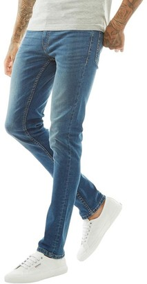 Firetrap Mens Skinny Jeans Mid Blue
