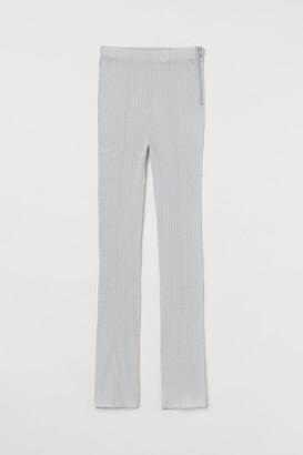 H&M Flared Leggings - Silver