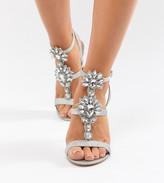 Asos Design DESIGN Vikki Wide Fit Embellished Heeled Sandals