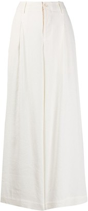 UMA WANG Wide Leg Linen Trousers