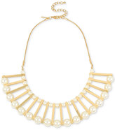 INC International Concepts M. Haskell for Gold-Tone Imitation Pearl Statement Necklace, Created for Macy's