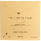 Dogeared Jewels Circle Necklace (Sterling Silver) - Jewelry
