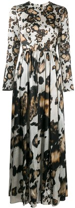 Edward Crutchley Printed Silk Maxi Dress