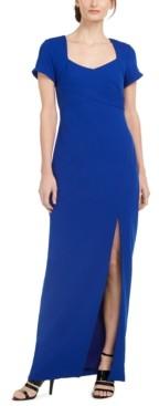 Calvin Klein Cap-Sleeve Gown