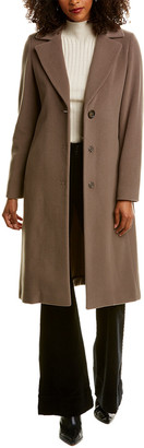 Cinzia Rocca Icons Long Wool & Cashmere-Blend Coat