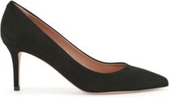 HUGO BOSS Suede Court Shoes With 70 Mm - 2.76 Inch Heel - Black
