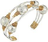 Robert Lee Morris Sculptural Bead Wire Wrapped Cuff Bracelet