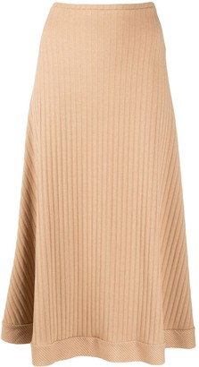 Maggie Marilyn Ribbed-Knit Midi Skirt