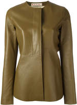Marni peplum leather jacket