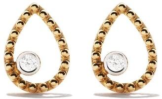 As 29 18kt yellow gold Mye pear beading diamond earrings