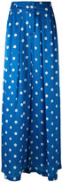 Christian Wijnants polka-dot wide-leg trosuers - women - Silk - 34