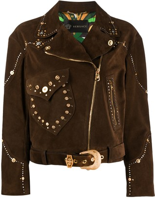 Versace Suede Studded Jacket