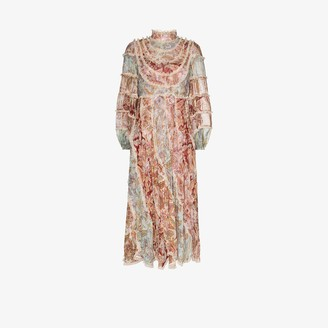 Zimmermann Ladybeetle printed ruffled dress