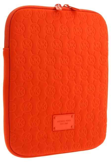 MICHAEL Michael Kors Electronics Neoprene Tablet Case (Tangerine) - Bags and Luggage