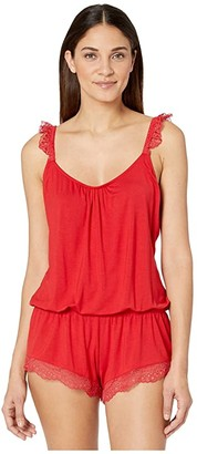 Eberjey Myla - The Primped Teddy (Haute Red) Women's Jumpsuit & Rompers One Piece