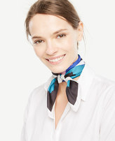 Ann Taylor Colorblocked Clouds Silk Little Scarf