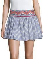 Raga Women's Printed Pleated Cotton Skirt
