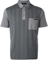 Prada striped polo shirt - men - Cotton/Spandex/Elastane - S