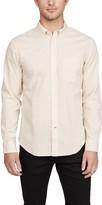 Club Monaco Long Sleeve Slim Button Down Honeycomb Shirt