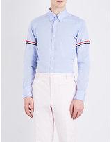 Thom Browne Classic Striped-sleeves Cotton-poplin Shirt