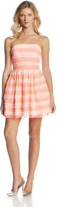 Erin Fetherston Erin Women's Azalea Tiered Chiffon Strapless Dress