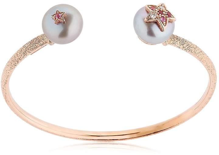 Carolina Bucci Pearl Rose Gold Bangle Bracelet
