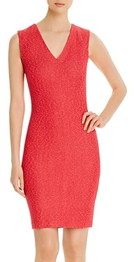 St. John Refined Knit V-Neck Dress