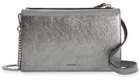 AllSaints Miki Metallic Leather Chain Wallet