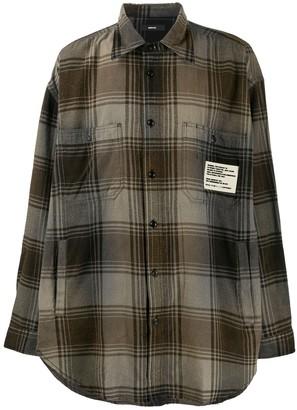 Diesel S-Miner vintage-check print shirt