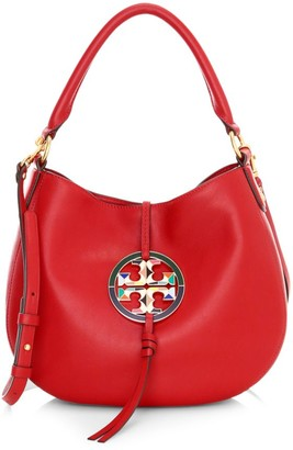 Tory Burch Mini Miller Stained Glass Leather Hobo Bag