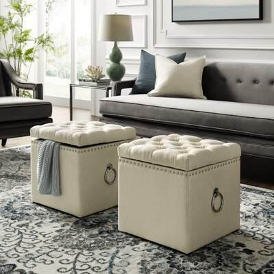 Awesome Mercer41 Mcclelland Tufted Storage Ottoman Mercer41 Squirreltailoven Fun Painted Chair Ideas Images Squirreltailovenorg