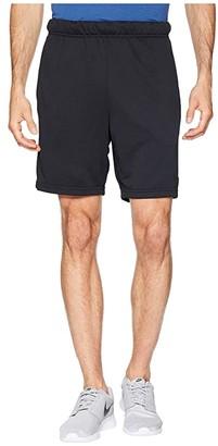 Nike Dry Fleece Hybrid Shorts (Black/White) Men's Shorts