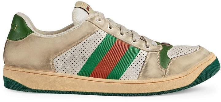8a83b4a65cd Mens Red Gucci Sneaker
