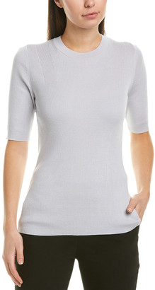 Lafayette 148 New York Skinny Rib Silk-Blend Sweater