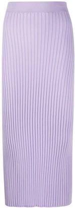 MM6 MAISON MARGIELA Rear-Slit Knitted Skirt