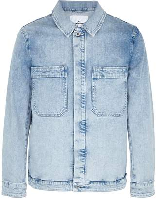 J. Lindeberg Cam Epic Light Blue Stretch-denim Jacket