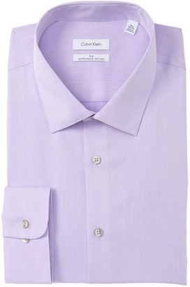 Calvin Klein Big Fit Solid Dress Shirt (Big)