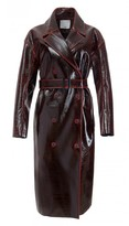 Tibi Patent Coated Wool Oversized Trench