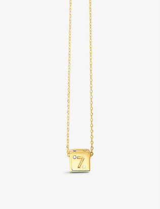 Maje Number 7 Dice gold-plated and rhinestone necklace