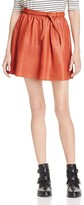Maje Jema Belted Leather Skirt - 100% Exclusive