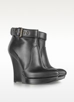 McQ by Alexander McQueen Black Biker Slim Wedge Boot
