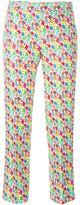 Au Jour Le Jour floral print cropped trousers - women - Polyester - 40