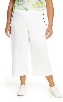 Single Thread Button Crop Pants