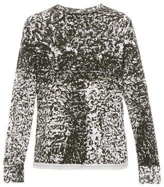 Eckhaus Latta Astrakhan-print Cotton Long-sleeved T-shirt - Mens - Black White