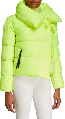 Bacon Puffa Oversized Asymmetric Down Jacket