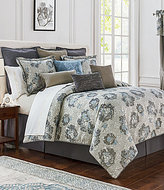 Waterford Blossom Reversible Floral Jacquard Comforter Set