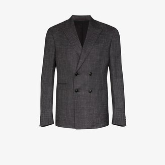 Ermenegildo Zegna Double-Breasted Wool Blazer
