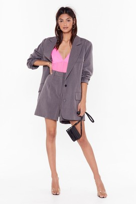 Nasty Gal Womens Ain't Nobody's Business Oversized Blazer - grey - 4